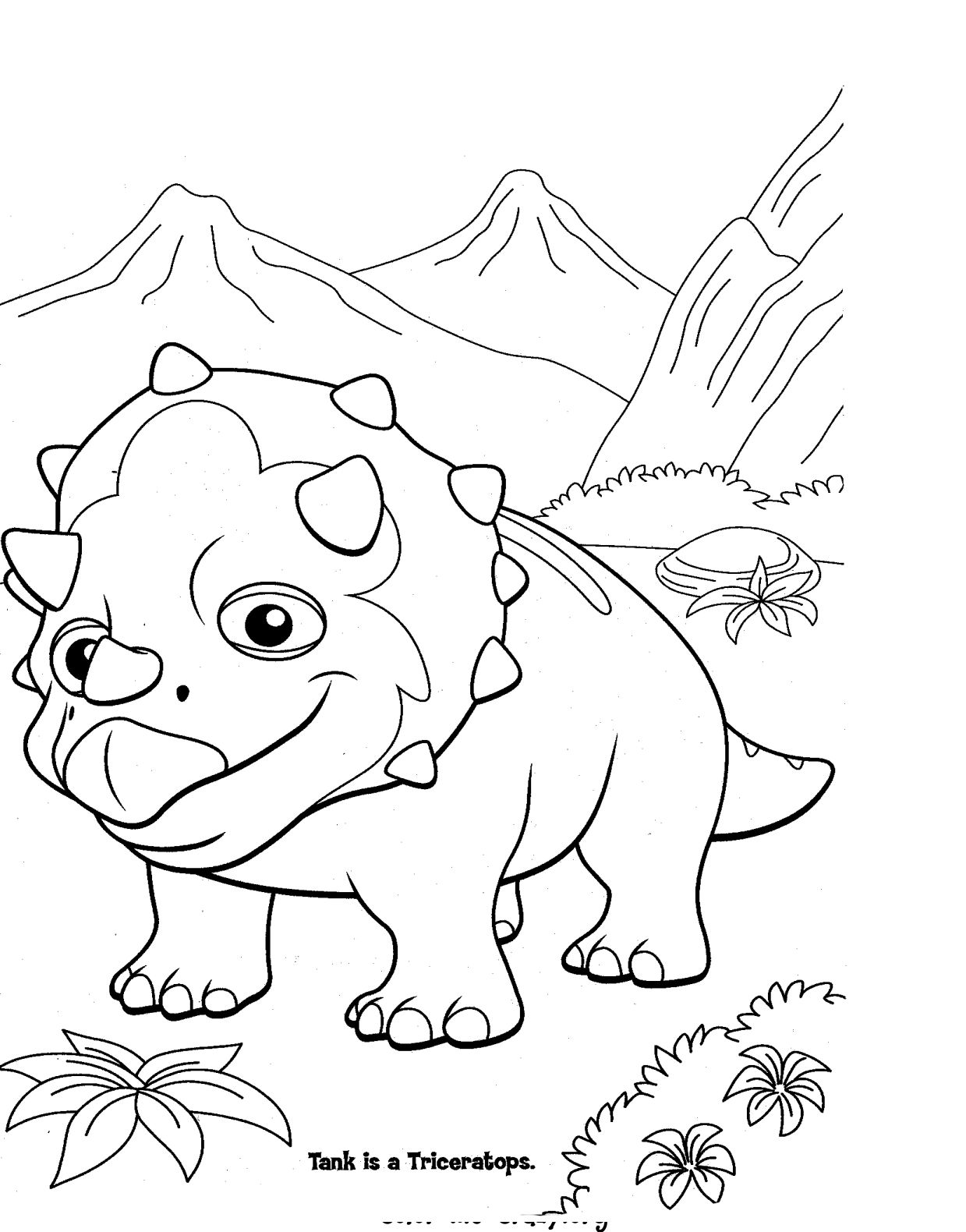 Tactueux image with free printable dinosaur coloring pages