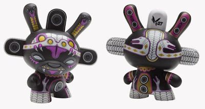 Kidrobot - Black Chase Variant Shadow Serpent 8 Inch Dunny by Marka27