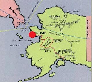 Mapa ciudad de Nome