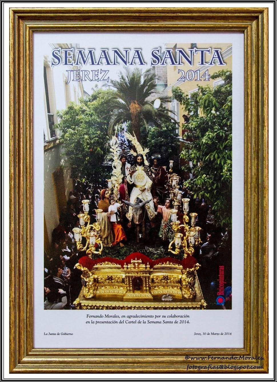 Cartel Semana Santa Jerez 2014 - Triunfal Entrada Jerusalén