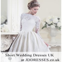 short wedding dress on jddresses.co.uk