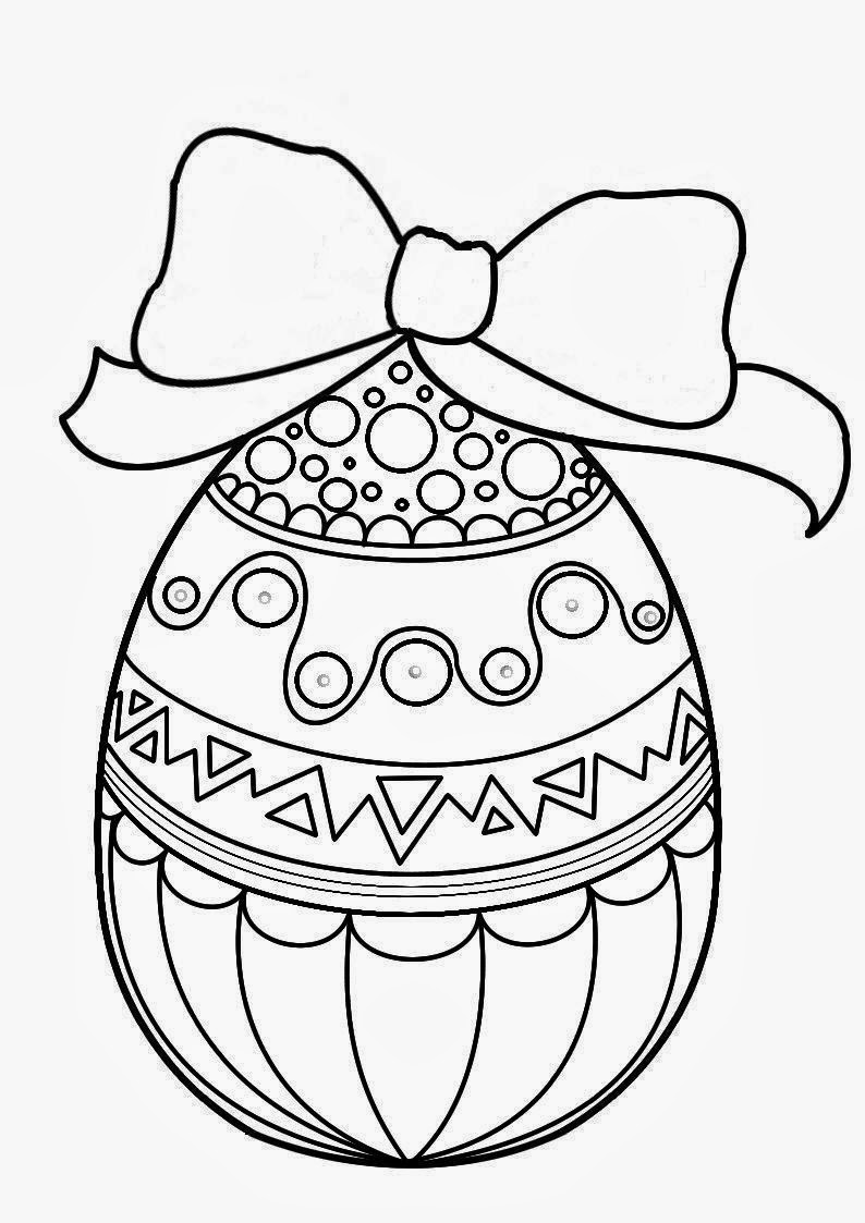 Easters Drawing For Coloring With A Basket Easter Eggs And Cats