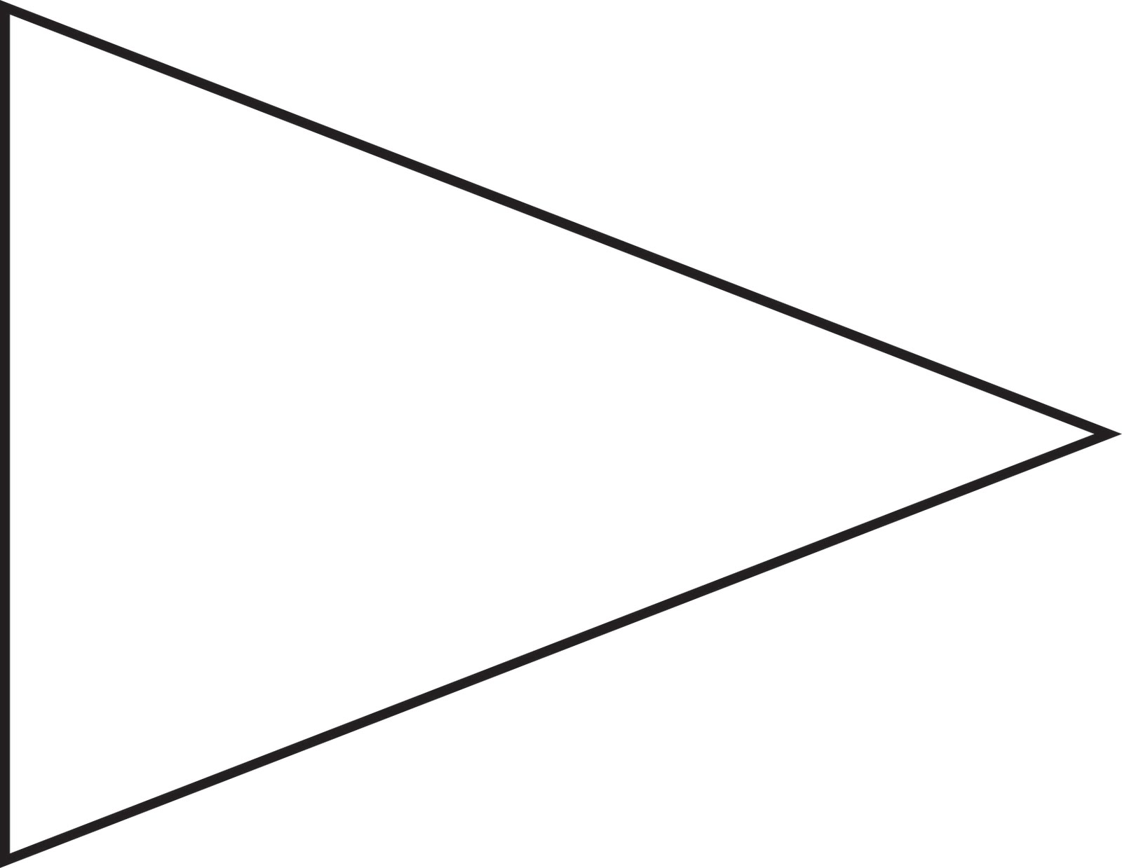 triangle flag banner template banner template