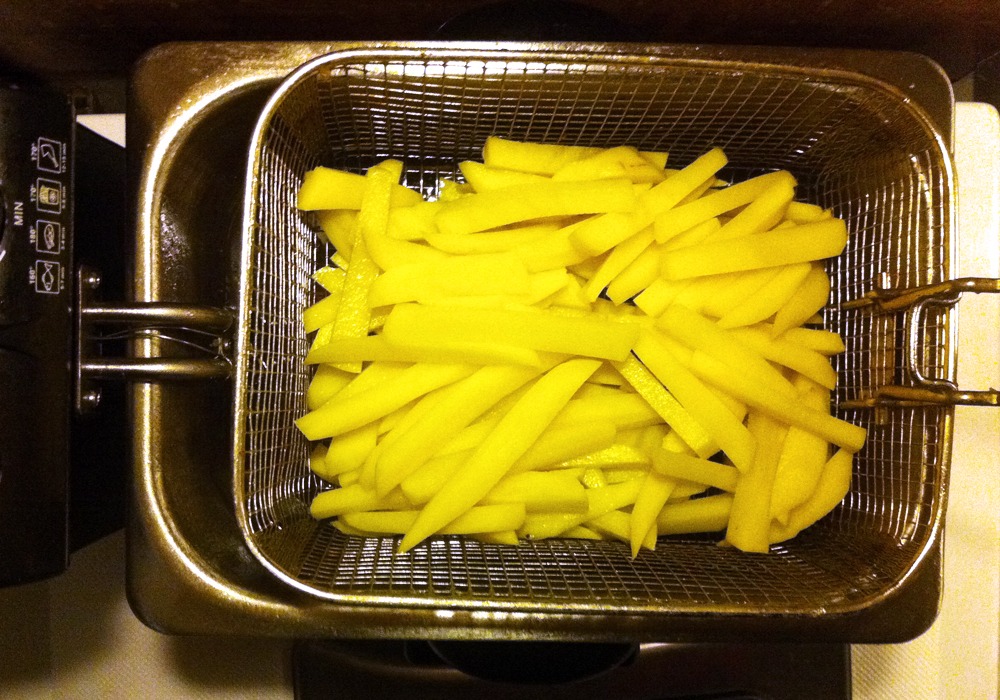 homemade Belgian fries