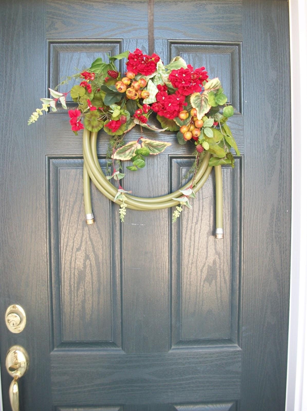 Water Hose Wreath Garden Hose Wreath From