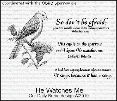 Stamps - Our Daily Bread Designs He Watches Me