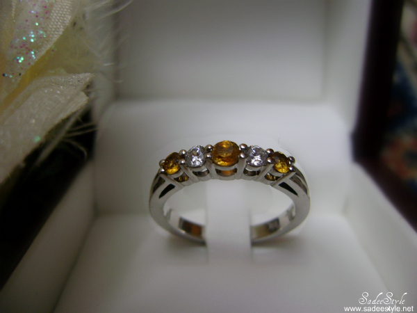 Five Across Alternating Gemstone Anniversary Ring by Anjolee