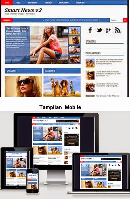 Magazine Blogger Template Smart News v.2