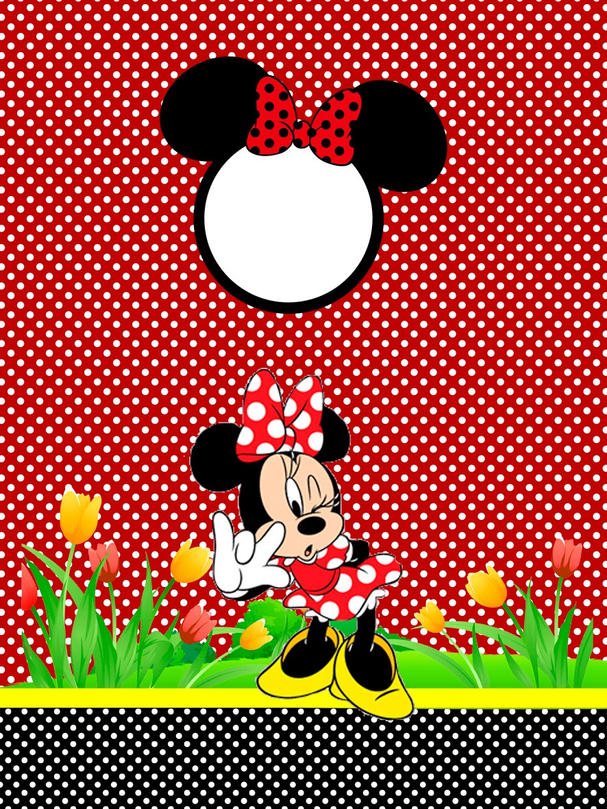 Minnie in red free printables and party invitations oh - Minni et mickey ...