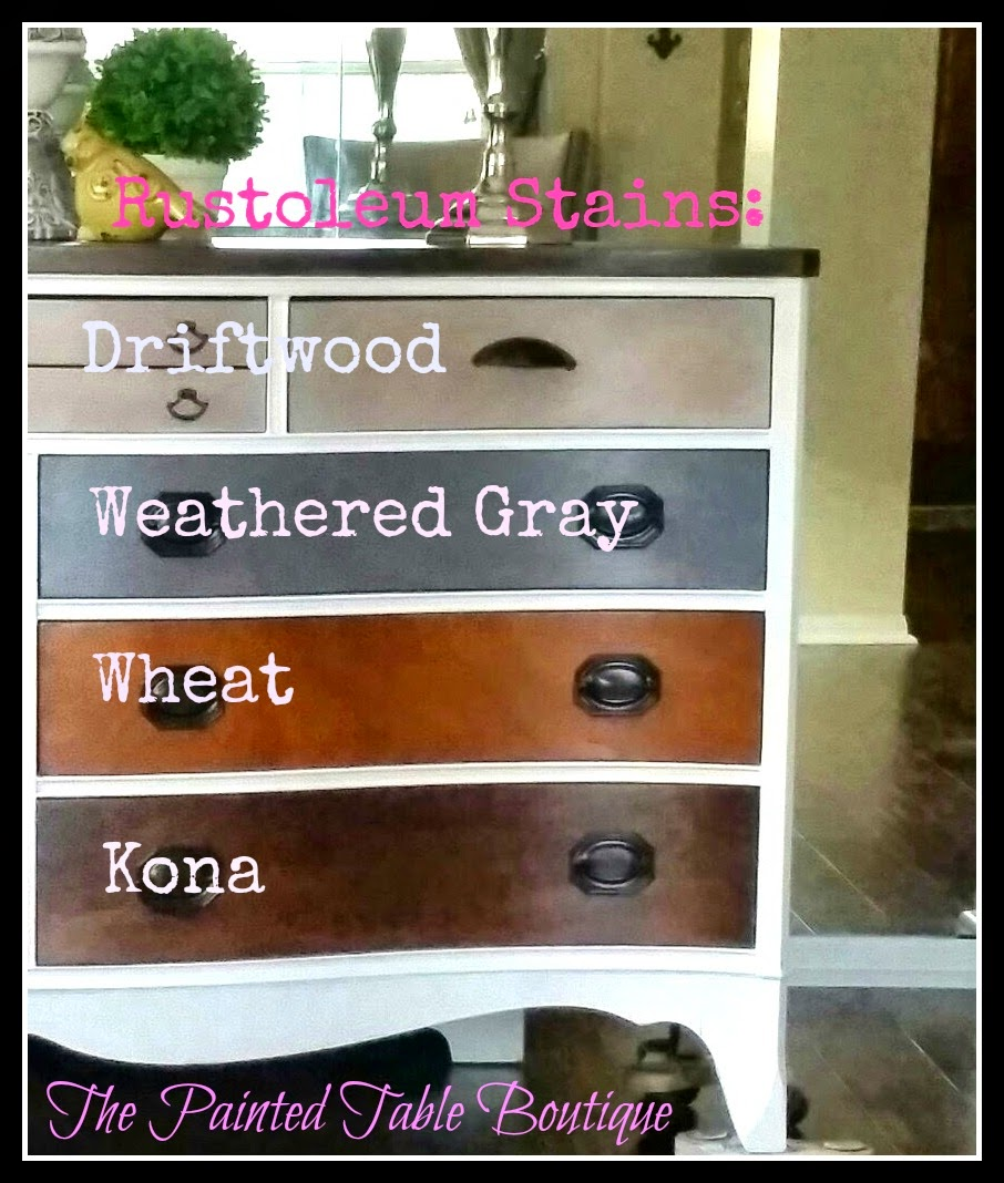 Rustoleum Driftwood Stain The Painted Table Boutique Ombre Stained Dixie Serpentine Double