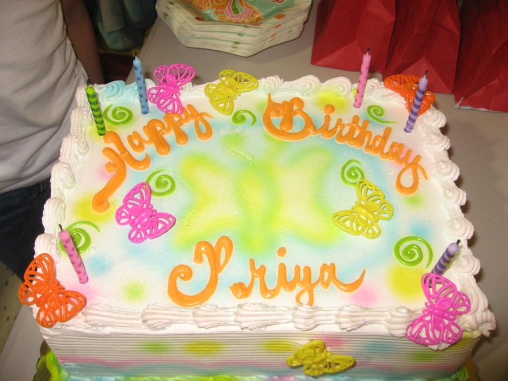 Birthday Cake Image With Name Priya