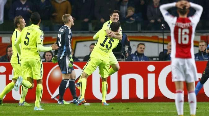 Barcelona Sukses Menggilas Ajax Amsterdam 2-0 Berkat 2 Gol Messi
