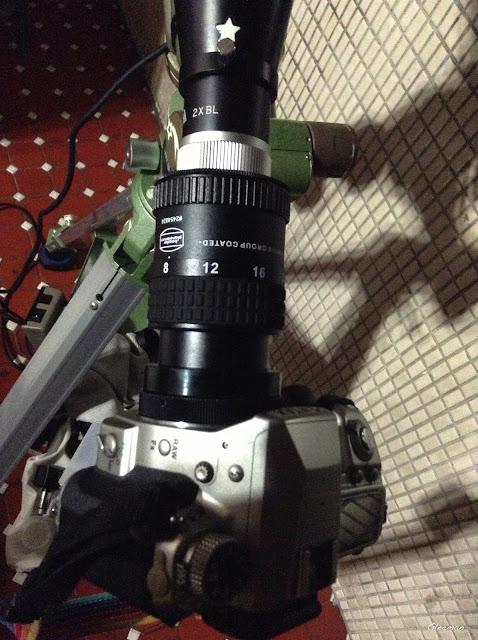 目鏡擴大攝影/Pentax 75SDHF Takahashi 2x巴羅鏡+Baader MarkIII 8-24 目鏡(使用約9mm~10mm焦段)@Pentax K5