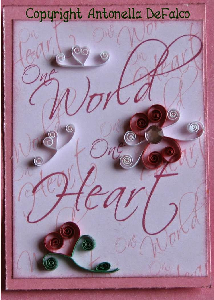 Heart and Love ATC from Antonella at www.quilling.blogspot.com