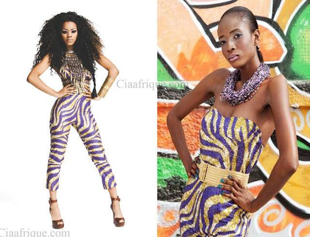 Teyana Taylor in african print jumpsuit