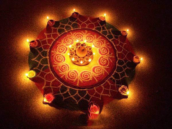 Diwali Rangoli Designs Patterns 2015 Latest Beautiful Simple design with Flowers Images