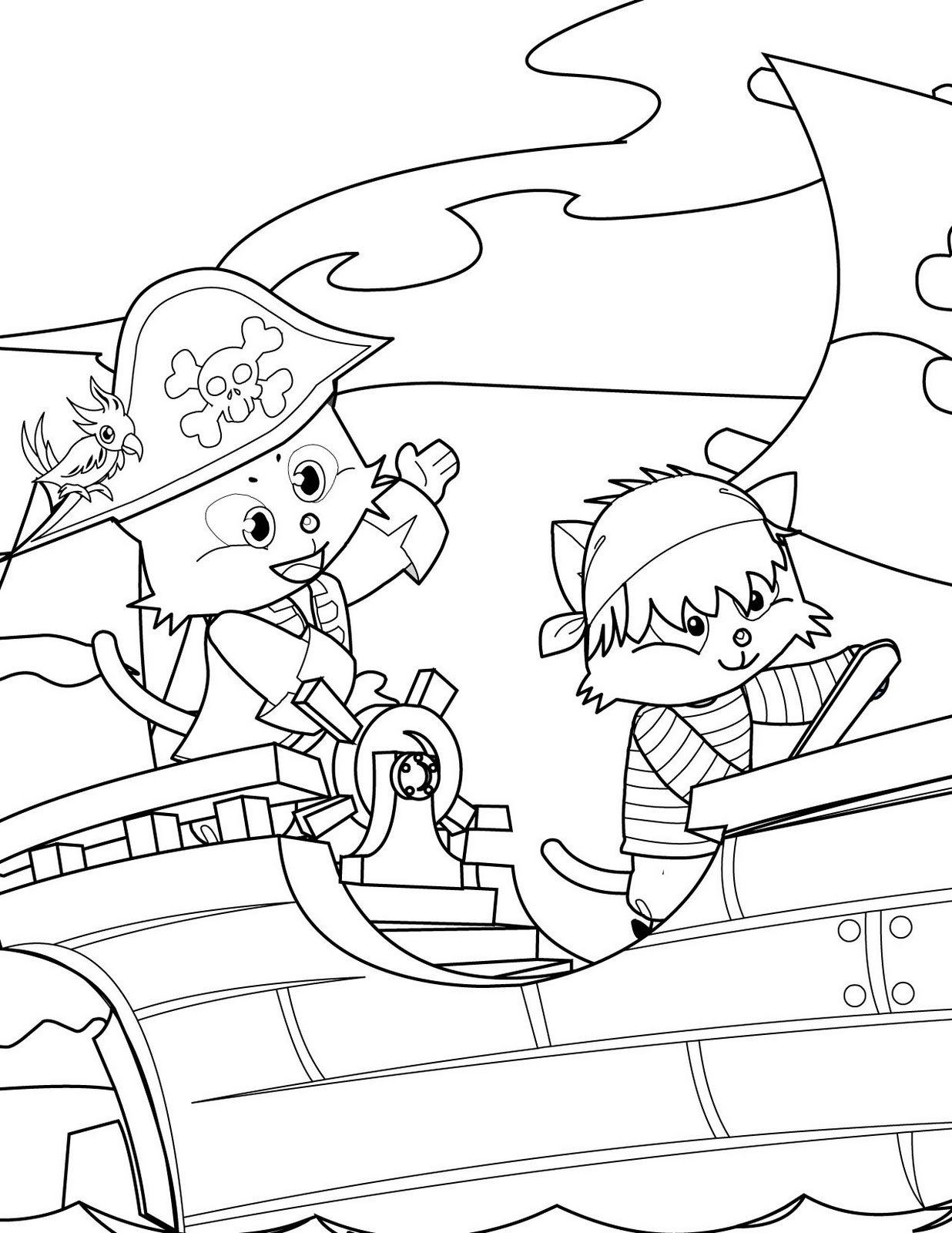 blog creation2  10 pirates coloring pages to print and