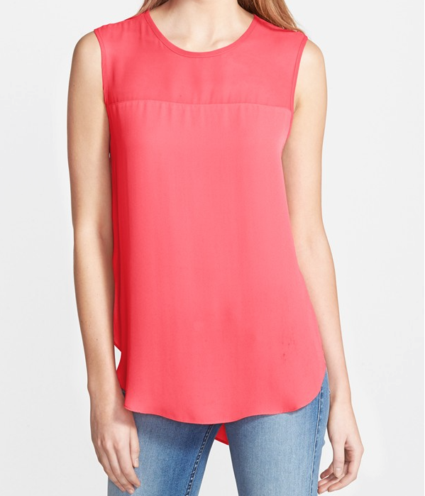 Spring - Summer style - Vince Camuto Sleeveless Blouse