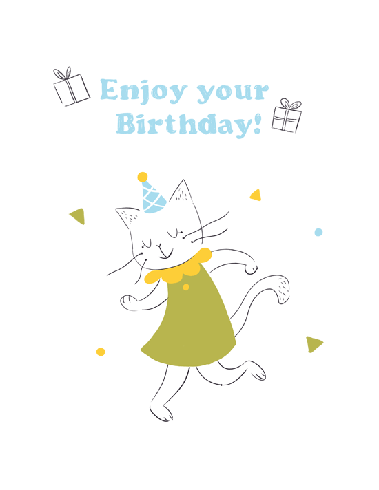 greeting card, birthday, illustration