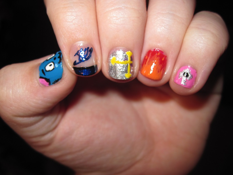 Fairy Tail Nail Designs Fairy Tail Nails