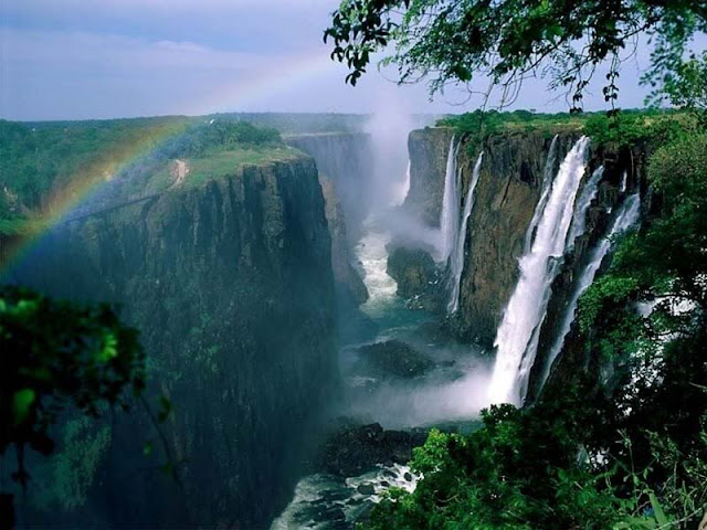 The Victoria waterfalls in Zimbabwe - Zambia