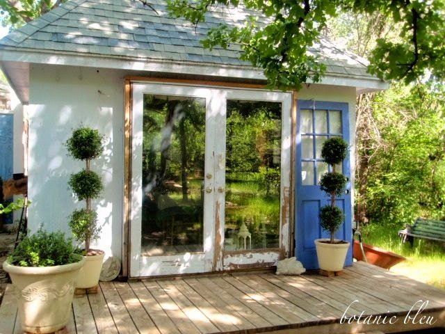 French country garden sheds