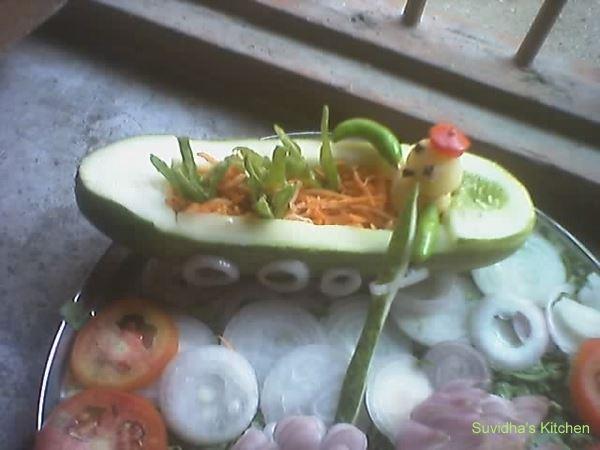 Suvidha 39 s kitchen salad decoration 2 for Decoration salade