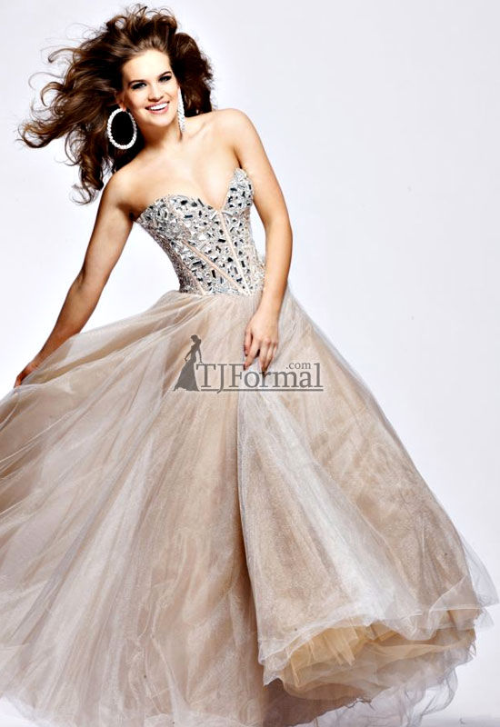 TJ Formal Dress Blog: Prom Trends - Nude-colored Prom Dresses