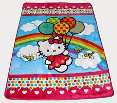 Grosir Selimut New Seasons Blanket hello Kitty Pelangi