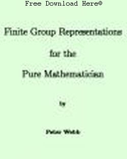 Finite Group Representations for the Pure Mathematician