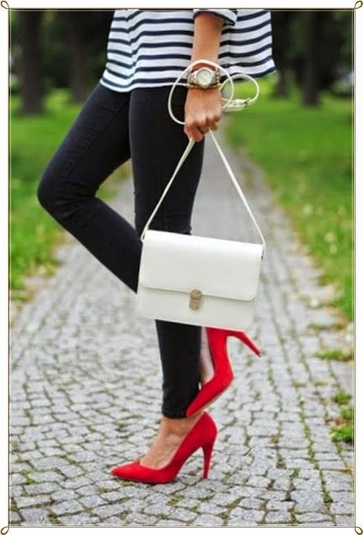 Absatz Schuhe Hosen Kombination 2015