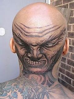 Bald Head Tattoo Design Photo Gallery - Bald Head Tattoo Ideas