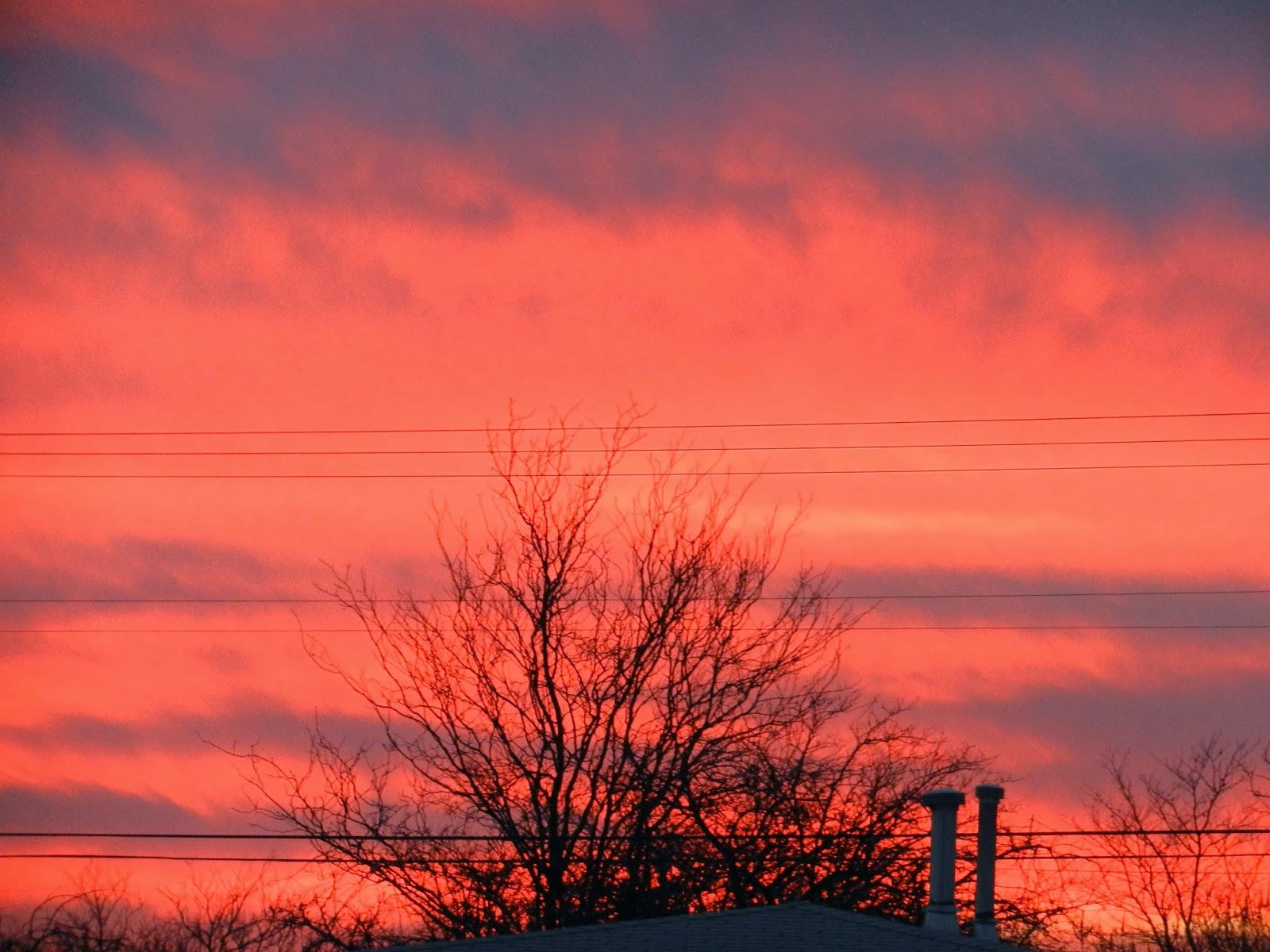 sunset fires