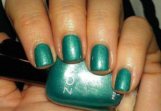 turquoise foil shimmer