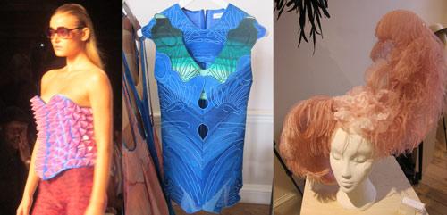Jeffrey Michael show, Felicity Brown dress, Piers Atkinson headpiece
