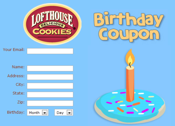 Get coupons sent to house