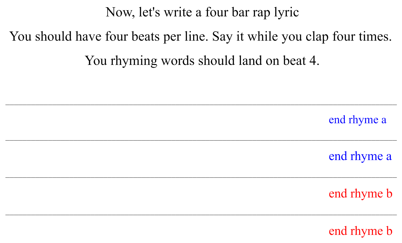 writing a rap song How to write my first rap song embrace the feeling if you're writing a song for the first time, the first thing you have to accept is that you're depending on feeling and not on techniques.