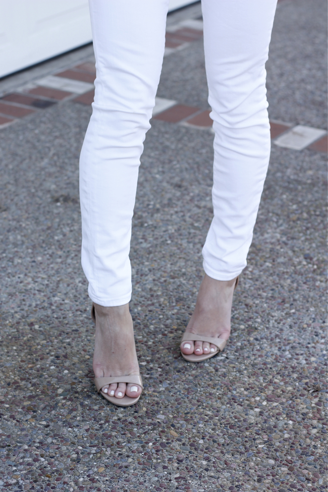 J. Crew, white, jeans, denim, sandals, Target, nude
