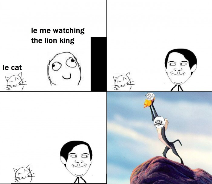 Me Watching The Lion King And Suddenly My Pet Cat Appears