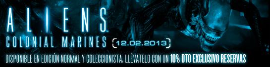 Aliens: Colonial Marines - 10% descuento exclusivo reservas