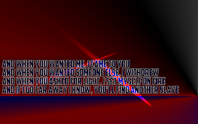 What You Are - Audioslave Song Lyric Quote in Text Image