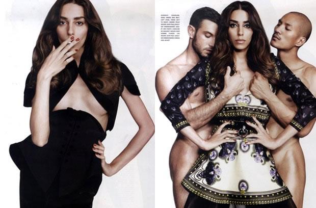 Fotos sensuais de Lea T para a revista Candy (Foto: Divulgação)