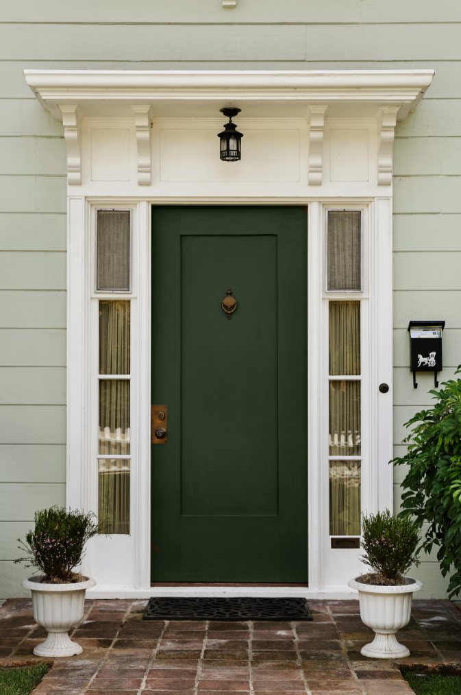 Best Paint For Front Door Custom With Green Front Door Colors for House Image