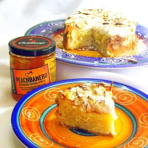 Wonderful Cream Cheese Peach Coffee Cake