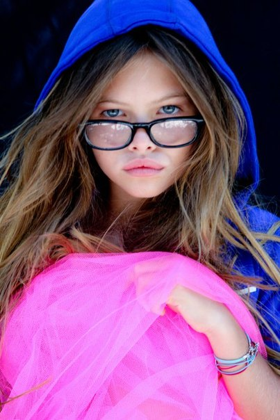 some art view: 10-year-old model Thylane Blondeau.
