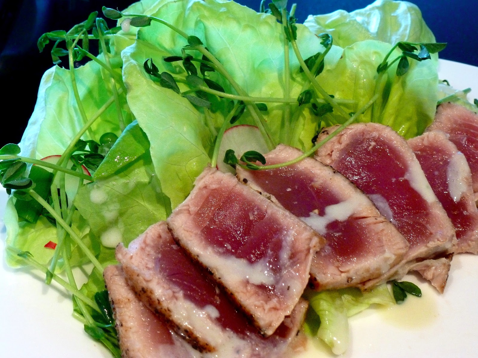 ... seared ahi tuna seared tuna with wasabi butter sauce seared tuna with