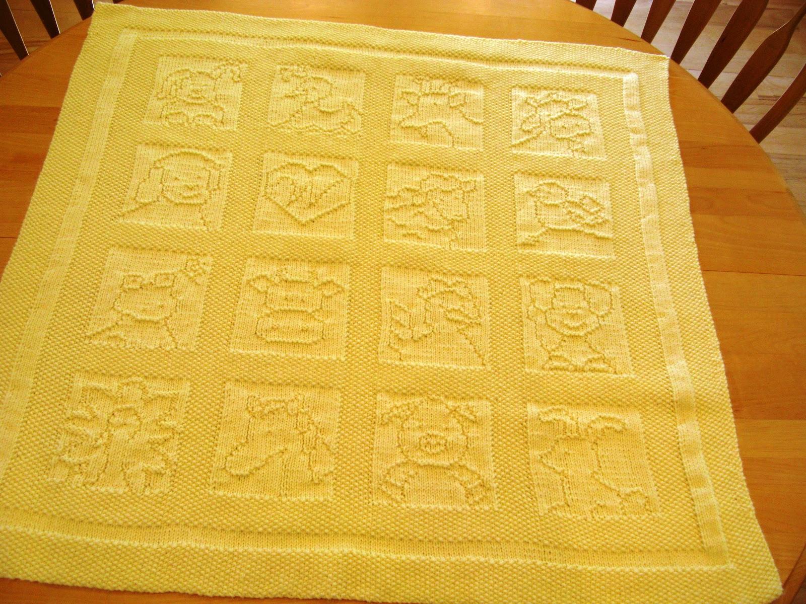 Knitting Patterns For Squares Baby Blanket : Down Cloverlaine: Blankets