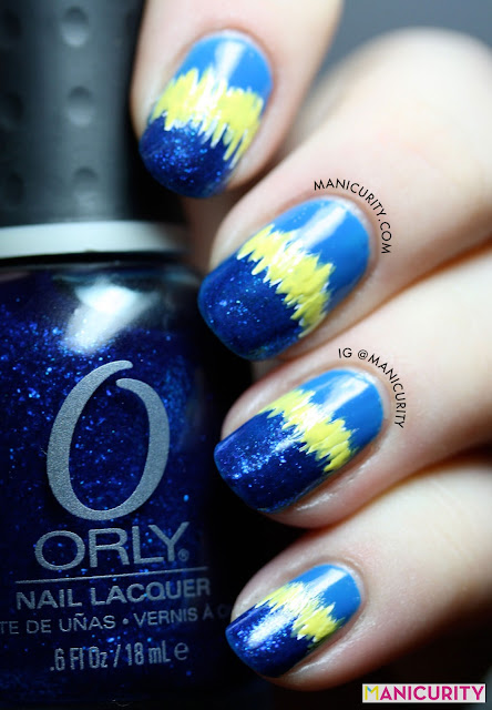 Manicurity | The Digit-al Dozen Does it Again: Blue! Starring Earthquake Nail Art