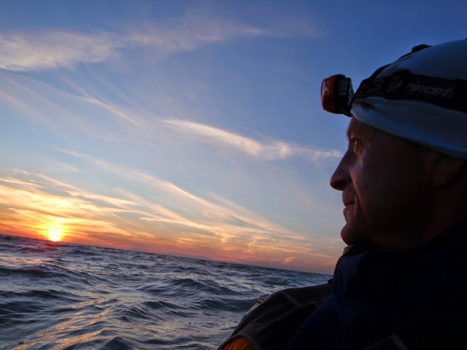 Robert Finlay watching the sunset on the Gulf of Mexico