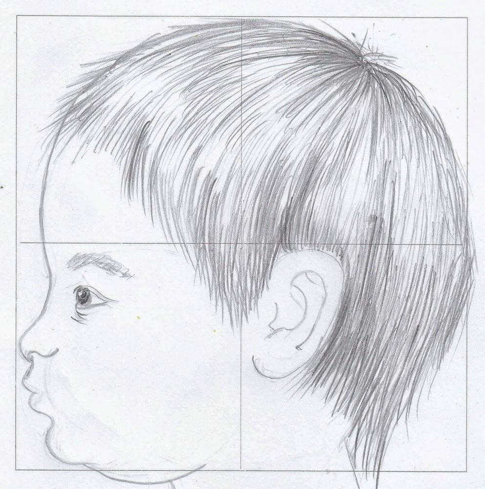 Drawspace Lesson H15: How To Draw A Baby's Face With Four Squares